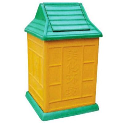 玻璃钢分类垃圾桶-室内果皮桶